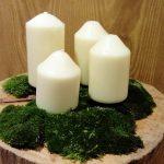 Jednoduchý adventný veniec z dreva a machu (fotopostup)